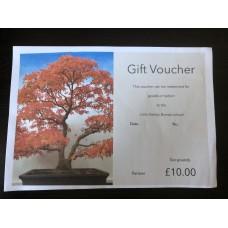 Gift voucher Ten pounds