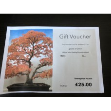 Gift voucher Twenty Five pounds