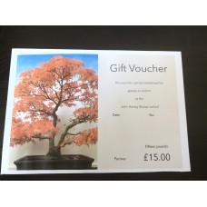 Gift Voucher Fifteen pounds